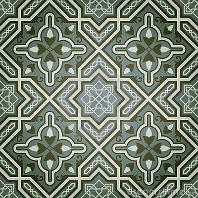 Geometric Oil Paint Decorative Seamless Pattern