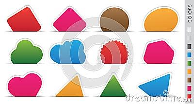 Geometric orange sticker