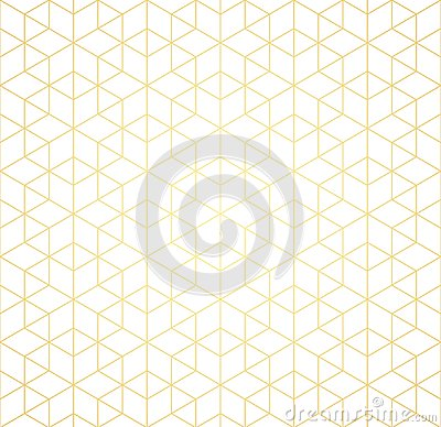 Geometric pattern of intersecting lines on a white background. Golden gradient. Abstract background for your design. Vector. Cartoon Illustration