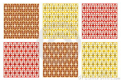 Colorful Abstract Retro Patterns Geometric Design Wallpaper
