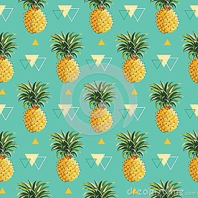 Free Geometric Pineapple Background Royalty Free Stock Photography - 53630307