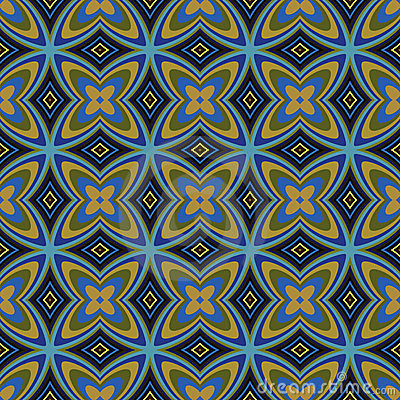 Geometric Retro Wallpaper Seamless Pattern