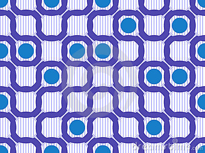 Geometric ring seamless pattern