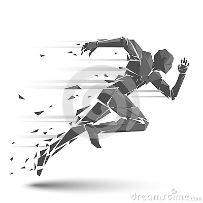 Free Geometric Running Man Stock Photography - 63995182