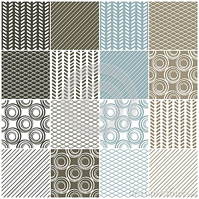 Geometric seamless patterns: swaves,circles, lines