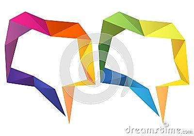 Geometric speech bubbles, vector set