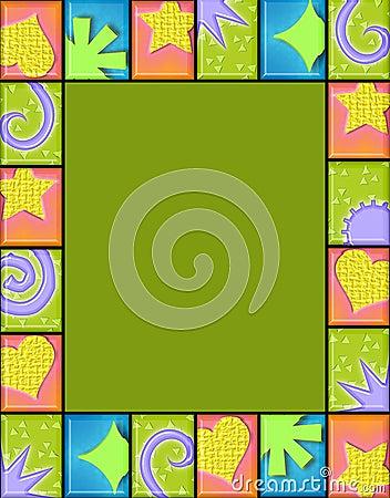 Geometric tile frame