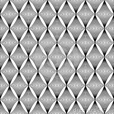 The geometric wave pattern. Seamless vector background Vector Illustration