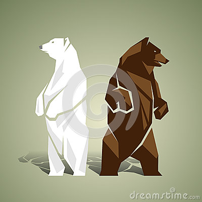 Free Geometric White And Brown Bears Royalty Free Stock Photo - 54793925