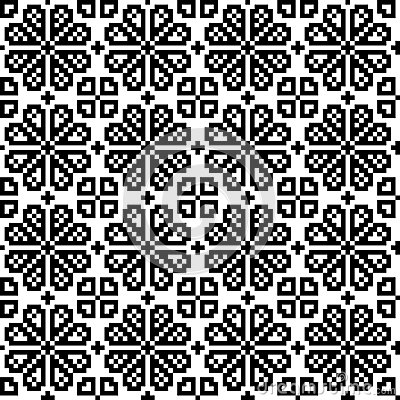 Geometrical flower seamless pattern