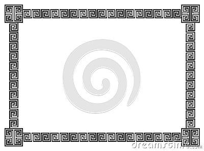 Geometrical Scrolls Border