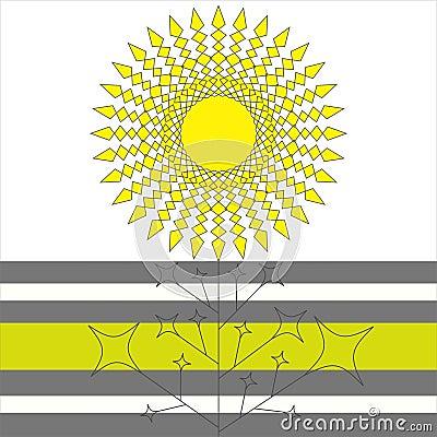 Geometrical sun flower
