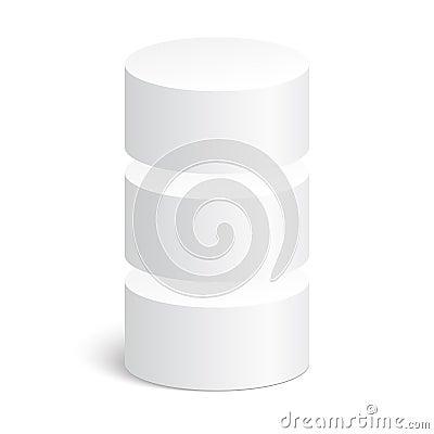 geometrische formen zylinder 3d vektor abbildung bild 51018557. Black Bedroom Furniture Sets. Home Design Ideas