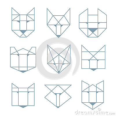 geometrische tiere vektor abbildung bild 51629208. Black Bedroom Furniture Sets. Home Design Ideas