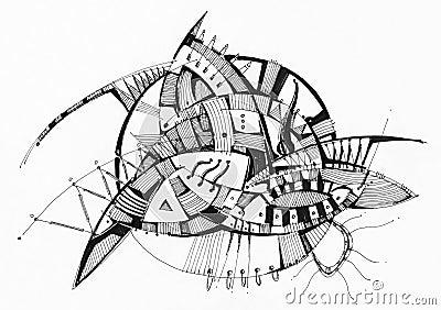 Geometrisk abstrakt teckning