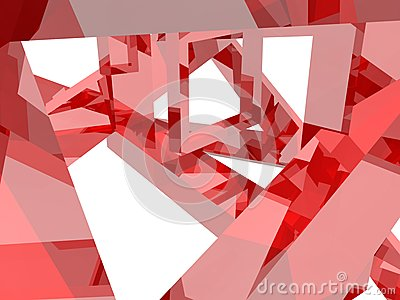 Geometry composition in red