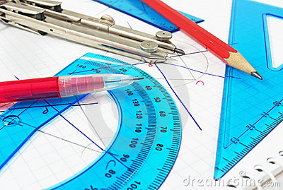Geometry equipment close up