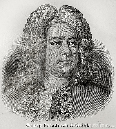 Georg Friedrich Handel Editorial Stock Photo