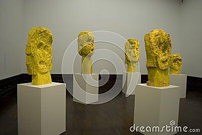 George Baselitz s art Editorial Photo