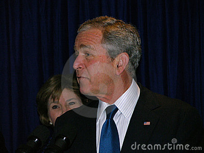 George Bush in Ukraine Editorial Image