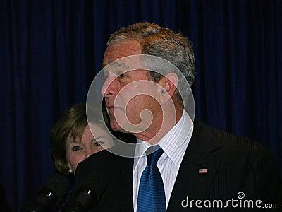 George Bush in Ukraine Editorial Image