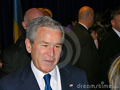 George Bush in Ukraine Editorial Stock Photo