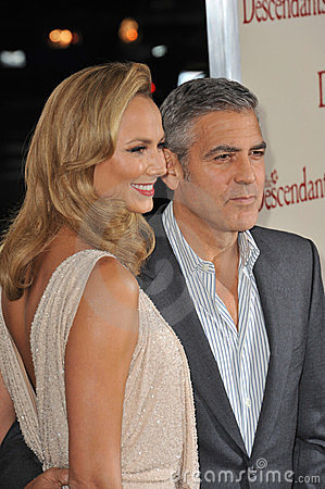 George Clooney, Stacy Keibler,  Editorial Photo
