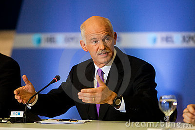 George Papandreou Editorial Photo