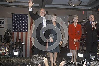 George W. Bush and John McCain Editorial Stock Image