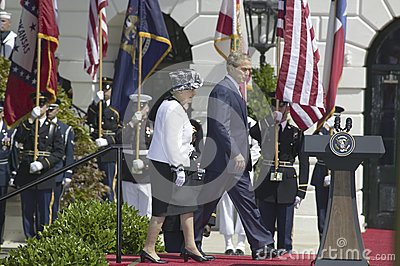 George W. Bush and Queen Elizabeth II Editorial Photo