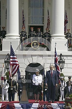 George W. Bush and Queen Elizabeth II s Editorial Photo