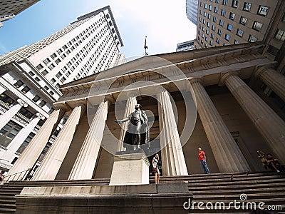 George Washington and Federall Hall Editorial Image