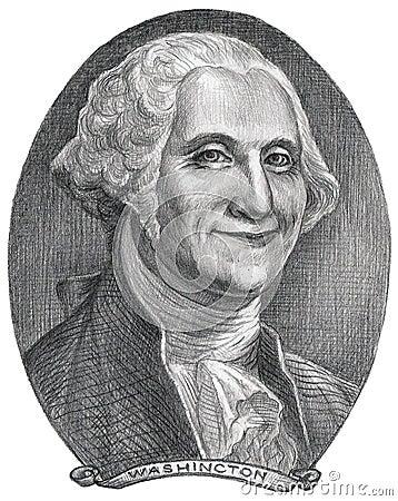 George Washington illustration Editorial Image