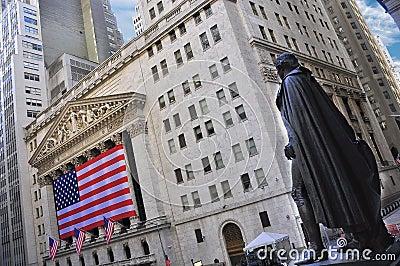 GEORGE WASHINGTON AT THE NYSE Editorial Stock Photo