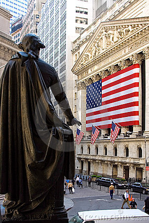 George Washington at the NYSE Editorial Photography