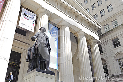 George Washington at the NYSE area Editorial Photo