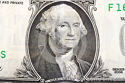 George Washington on one dollar banknote