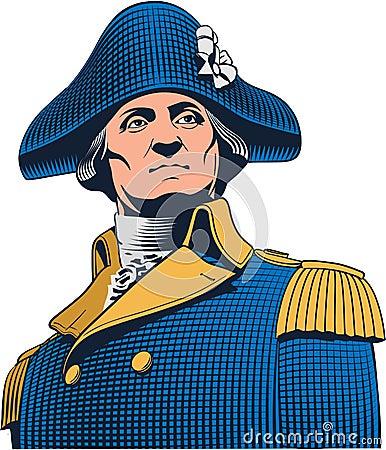 Free George Washington Portrait, Engraved Illustration. Editable Layers. Royalty Free Stock Photography - 139229457