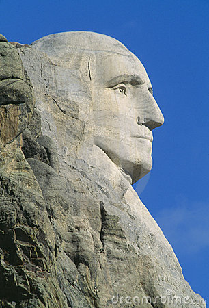 George Washington, zet Rushmore op