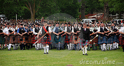 Georgetown highland Games Massed Bands Editorial Stock Image