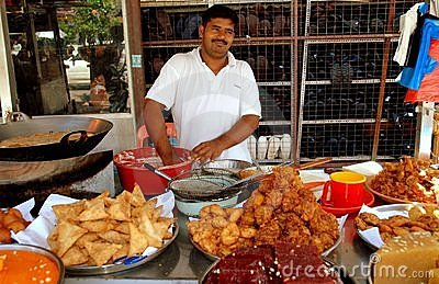 Georgetown, Malaysia: Indian Food Vendor Editorial Stock Photo