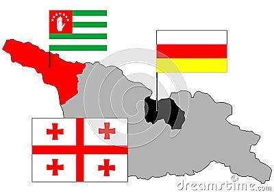 Georgia,Abkhazia,Soutn Ossetia