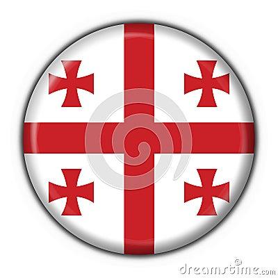 Georgia button flag round shape