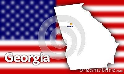 Georgia state contour