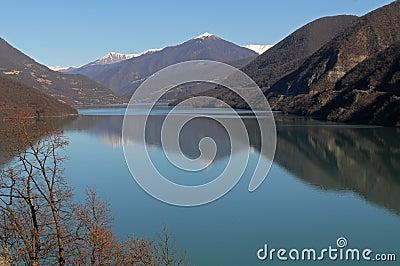 Georgia -storage lake Ananuri