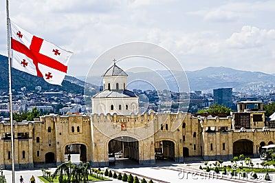 Georgian flag in Tbilisi