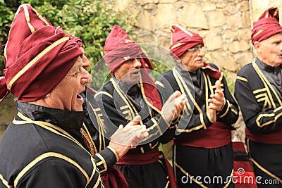 Georgian Folk Dance Group Editorial Stock Photo
