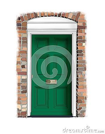 Georgian house door