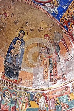 Georgian orthodox monastery Gelati inside