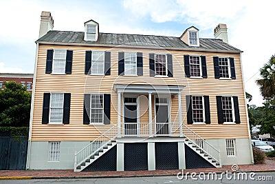 Georgian Style Duplex House in Savannah Georgia